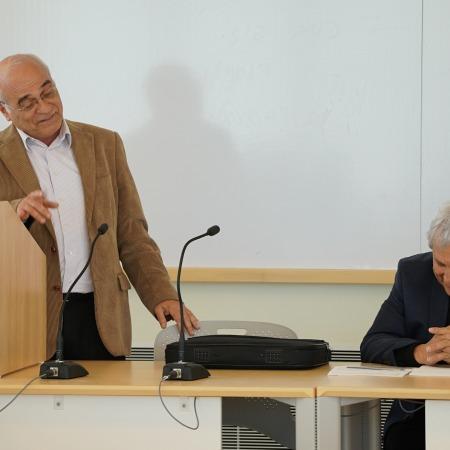 A.B Yehoshua, and Prof. Israel Yuval
